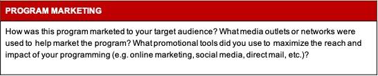 program marketing